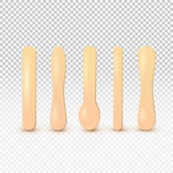 Bastone di legno per gelato o abbassalingua medico.
