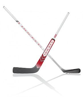 Bastoni da hockey illustrazione vettoriale