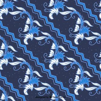 Batik bassa floreale blu