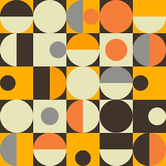 Bauhaus abstract memphis background