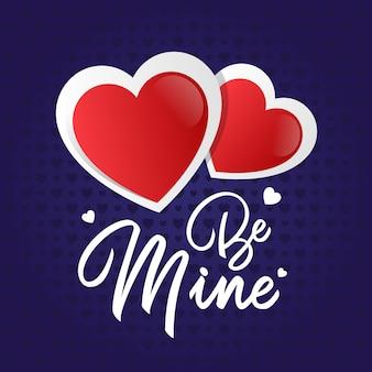 Be mine valentine heart