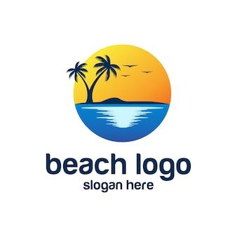 Beach logo vettori