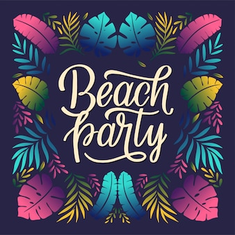 Beach party lettering