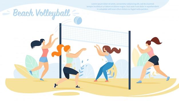 Beach volley, competizione squadre sportive,