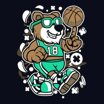 Bear basketball player