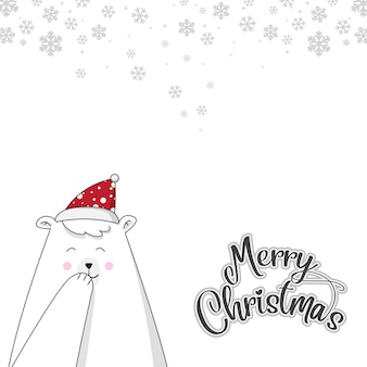 Bear cute christmas