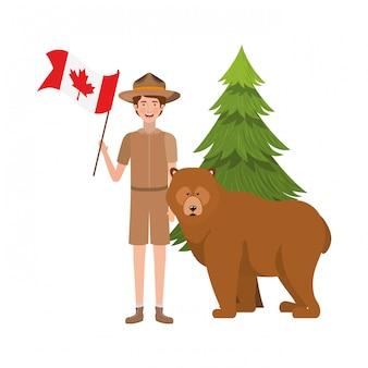 Bear foresta anima e rangerl del canada