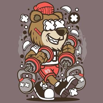 Bear gym cartoon