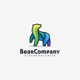Bear modello di vettore multicolore giocoso