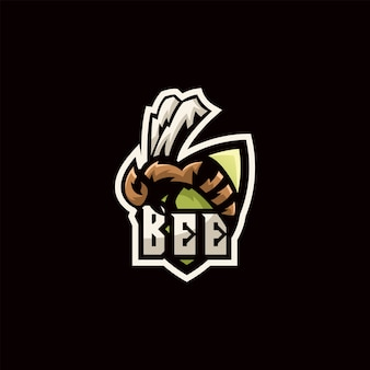 Bee logo illustrazione