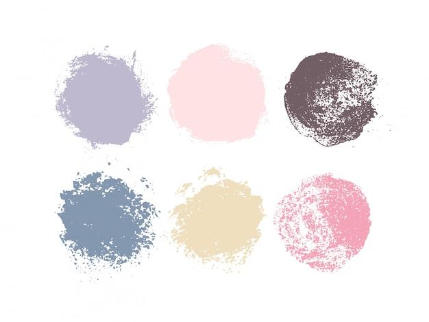 Bei cerchi teneri colorati di lerciume dell'acquerello. illustrazione del logo