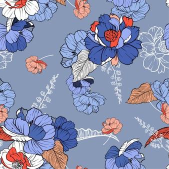 Bei fiori botanici dolci