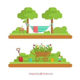 Bei paesaggi giardino