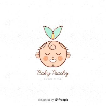 Bel bambino logo con stile moderno