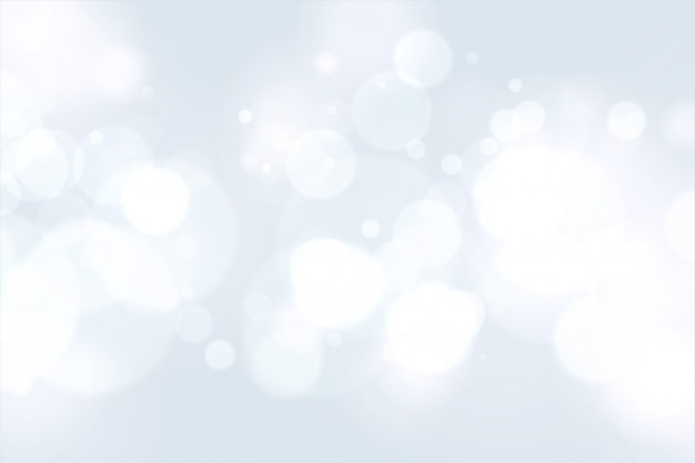 Bel bianco con effetto luce bokeh