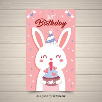Bel design della prima carta di compleanno
