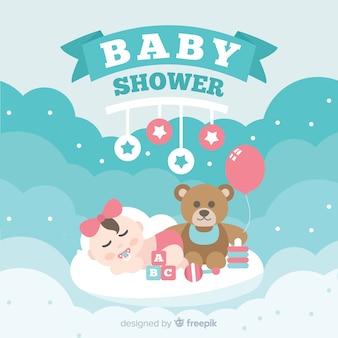 Bel design doccia per bambini in stile piatto