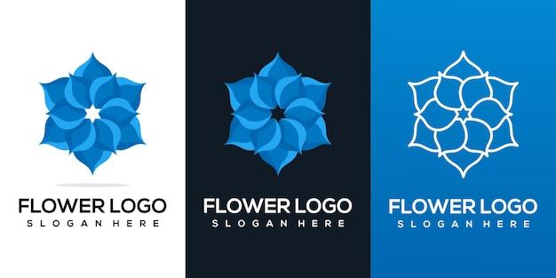 Bel logo di un fiore