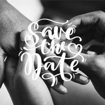 Bel matrimonio salva la data con la foto