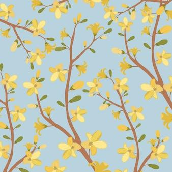 Bel modello di fiore giallo.