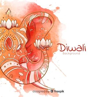 Bella acquerello diwali sfondo