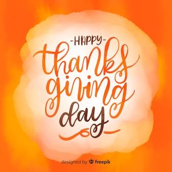 Bella acquerello giorno del ringraziamento sfondo