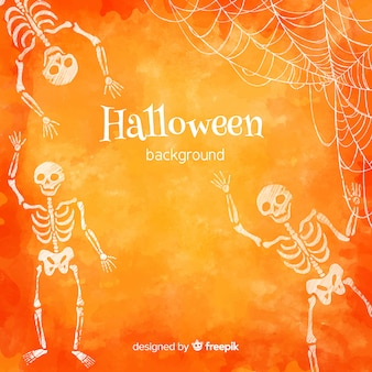 Bella acquerello sfondo di halloween