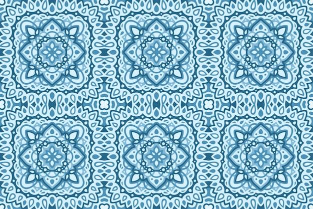 Bella arte con il modello senza cuciture astratto blu