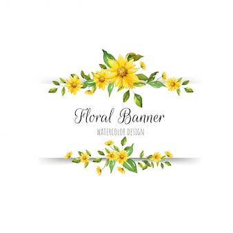 Bella bandiera floreale
