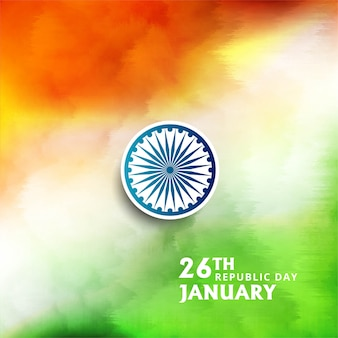 Bella bandiera indiana tema acquerello