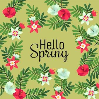 Bella carta da parati ciao primavera