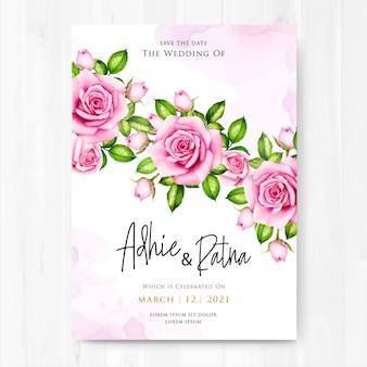 Bella carta di invito a nozze