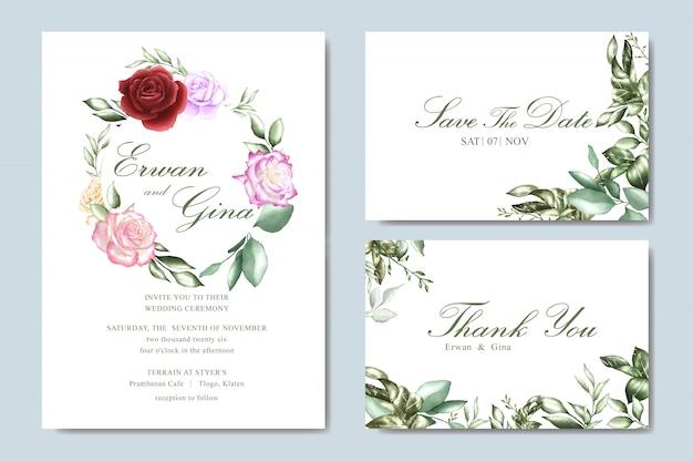 Bella carta di invito matrimonio