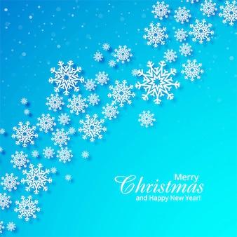 Bella carta fiocco di neve di natale