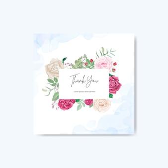 Bella carta floreale e modelli dell'invito di nozze
