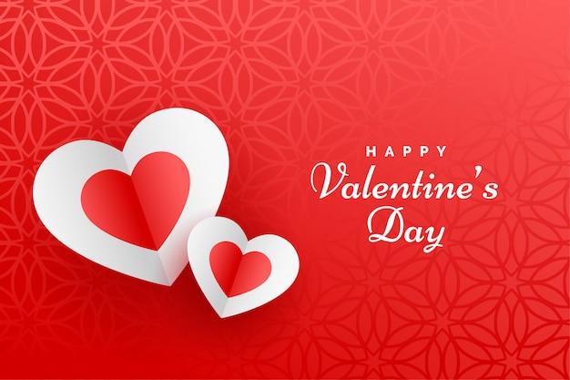 Bella carta rossa felice di san valentino