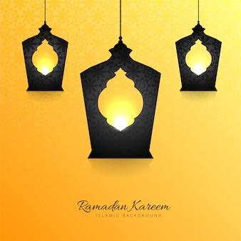 Bella cartolina d'auguri di ramadan kareem