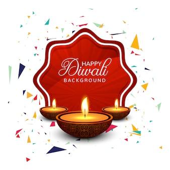 Bella cartolina d'auguri per felice diwali festival