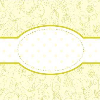 Bella cartolina di invito floreale