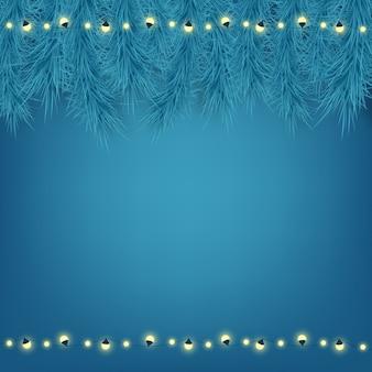 Bella cartolina di natale su sfondo blu.