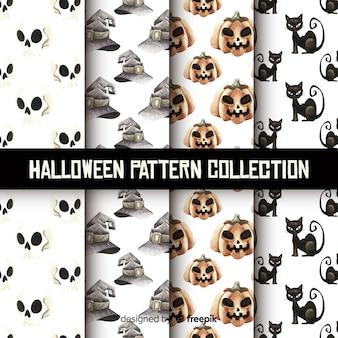 Bella collezione acquerello modello halloween