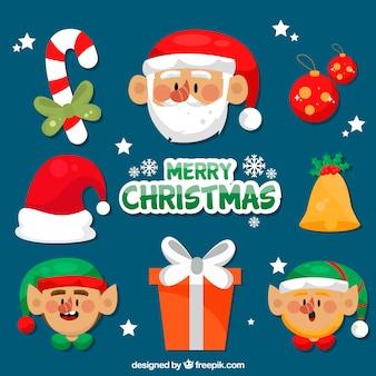 Bella collezione di elementi natalizi