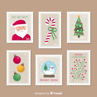 Bella collezione di francobolli natalizi