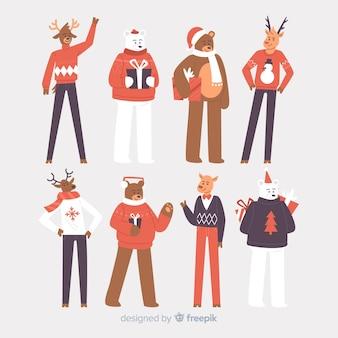Bella collezione di personaggi natalizi