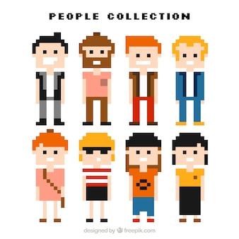 Bella collezione di uomini e donne pixelated