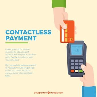 Bella composizione con pagamento senza contatto