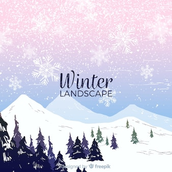 Bella composizione del paesaggio invernale