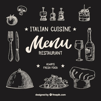 Bella composizione del ristorante