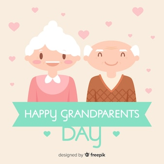 Bella composizione giorno dei nonni con design piatto
