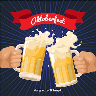 Bella composizione oktoberfest con design piatto